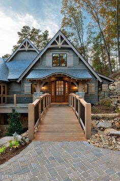 The Reserve at Lake Keowee I Mountain Home Exterior, Modern Mountain Home, Cottage Exterior, Mountain Homes, Exterior House Colors, Mountain Style, Small House Plans, House Floor Plans, Style At Home