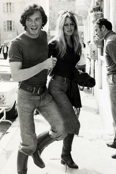 With her boyfriend Christian Kalt in St.Tropez on April 12, 1971. - ELLE.com