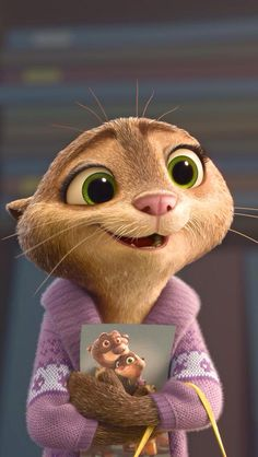 I love Mrs. Otterton. She is the most adorable thing that has ever walket the city of Zootopia. She a lucky woman.