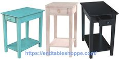 Black End Tables, Tall End Tables, Modern End Tables, Wood End Tables, End Tables With Storage, Open Shelving, Shelves, Table Dimensions, Particle Board