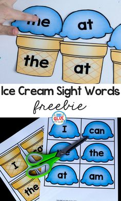Ice Cream Sight Words will be a hit during literacy centersYou can find Sight words and more on our website.Ice Cream Sight Words will be a hit during literacy centers Kindergarten Centers, Preschool Literacy, Early Literacy, Literacy Skills, Site Words For Kindergarten, Kindergarten Sight Word Games, Literacy Centres, Sight Word Worksheets, Kindergarten Language Arts