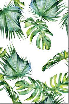 """Cuadro """"Jungle Climate"""" Hojas de palma, monsteras y las demás plantas tropicales siguen siendo un top absoluto en la decoración este año. ¡Visita BIMAGO para más inspiraciones!"""