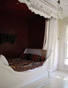Closet Nook with a Sleigh Bed