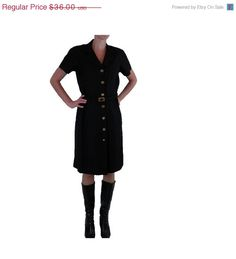 50% OFF Black Shirt Dress by David Hayes by BlackRockVintage