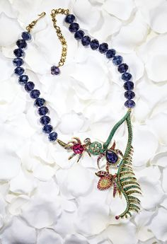 Sneak Peek: We would run through the gardens for this Heidi Daus Forest Garden Necklace, created in the spirit of Maleficent. (Available 5/7/14 on HSN.com)