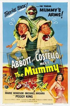 Abbott and Costello Meet the Mummy posters for sale online. Buy Abbott and Costello Meet the Mummy movie posters from Movie Poster Shop. We're your movie poster source for new releases and vintage movie posters. Horror Movie Posters, Old Movie Posters, Classic Movie Posters, Original Movie Posters, Movie Poster Art, Classic Movies, Horror Films, Old Movies, Vintage Movies