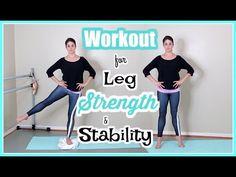 Workout for Leg Strength & Stability Ballet Barre, Ballet Class, Ballerina Workout, Ballet Stretches, Dance Technique, Dance Tips, Fitness Workout For Women, Barre Workout, Half Marathon Training