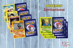 POKEMON Personalized Birthday Invitations DIGITAL- Pokemon birthday - Invitations on Etsy, $13.50