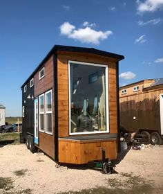 24ft Tiny House with Oversized Window in the Living Area & 574 best TINY MOVABLE HOMES images on Pinterest in 2018 | Tiny house ...