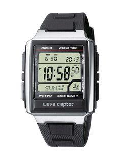 Casio - WV-59E-1AVEF - Waveceptor - Homme Acier - Quartz Digitale - Multifonctions - Bracelet Résine: Amazon.fr: Montres