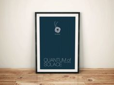 James Bond inspired Spy Film Print - 13x19 Minimalist Quantum of Solace Movie Poster