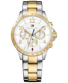 Tommy Hilfiger Women's Sophisticated Sport Two-Tone Stainless Steel Bracelet Watch 38mm 1781644