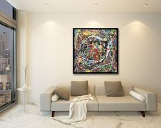 Modern abstract art paintings One of a kind art by KukiArtSK Group Boards, Beautiful Gifts, Art Paintings, Awesome, Amazing, Collaboration, Home Goods, Abstract Art, Etsy Seller