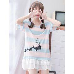 Cute Casual Whale Dress Top