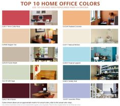Interior Paint Ideas and Inspiration Office color schemes and