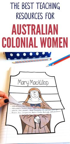 Check out our great range of Australian colonial women teaching resources designed especially for Australian Upper Primary Teachers. Our Australian Colonial Women range of teaching resources feature Caroline Chisholm, Mary MacKillop, Georgiana McCrae and Paragraph Writing, Persuasive Writing, Writing Rubrics, Opinion Writing, Primary Teaching, Teaching Resources, Primary School, Primary Resources, Elementary Teaching