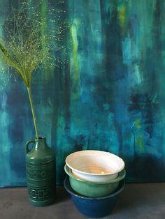 Vintagevas från Sesam keramik.