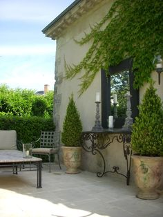 French outdoor living.