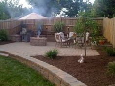 backyard - I like the step downs for a garden idea (maybe out of the cool rock) by marcia