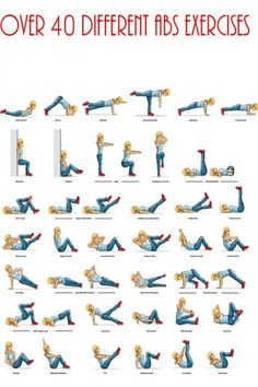 Ab day? Try one of these 40 ab exercises.  #workout #exercise #abs