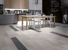Timber Look Porcelain Tile - Grey & Black Floor Design, Tile Design, Timber Tiles, Wood Tiles, Kitchen Tiles Design, Kitchen Designs, Kitchen Ideas, Grey Wood Floors, Tile Edge