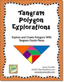 Tangram Polygon Explorations Freebie in Laura Candler's Math file cabinet