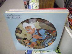 Pinocchio picture disc vinyl LP Walt Disney Disneyland Children's Kids Record