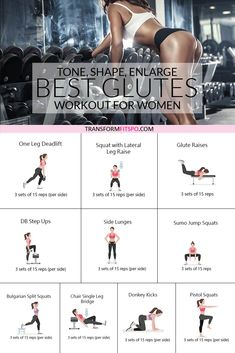 How to Get a Bigger Bum - Workout to Tone, Round and Enlarge Your Glutes - Trans. - How to Get a Bigger Bum – Workout to Tone, Round and Enlarge Your Glutes – Transform Fitspo - At Home Workout Plan, At Home Workouts, Workout Plans, Loose Weight In A Week, Bigger Bum Workout, One Leg Deadlift, Workout Bauch, Toning Workouts, Home Workouts