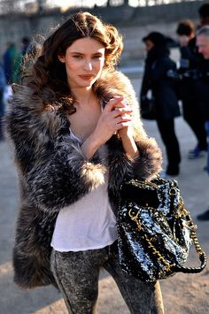 great looking coat, who says you cant have full furs these days! #fur #fashion