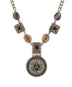Byzantine Ornament  Pendant Necklace by Haute Chic Webstore