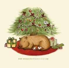 Capy Holidays  Capybara and Guinea pig under by WhenGuineaPigsFly,