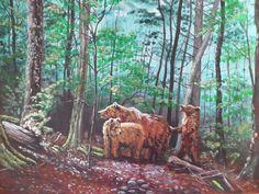 Bears acrylic canvas painting Niedźwiedzie farby akrylowe na płótnie