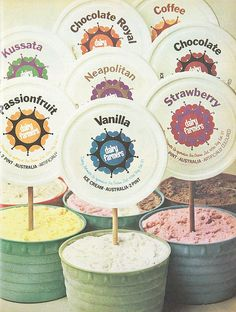 1970s Dairy Farmers ice cream advertisement