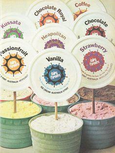 1970s Dairy Farmers ice cream advertisement