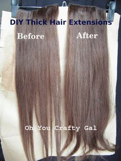 Get long hair in hours with fusion hair extensions last 3 5 oh you crafty gal how to make your clip on hair extensions thicker pmusecretfo Images