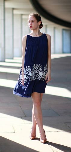 Ethereal Relaxed Embroidered DRESS