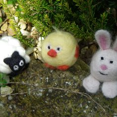 Needle felted spring critters.