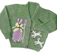 FREE toddler knitting pattern with Little Bo Peep motif