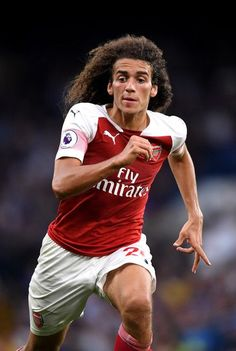 Matteo Guendouzi of Arsenal in action during the Premier League match between Chelsea FC and Arsenal FC at Stamford Bridge on August 2018 in London, United Kingdom. Arsenal Football, Arsenal Fc, Football Players, Arsenal Premier League, Premier League Matches, Alexandre Pato, Soccer Guys, Stamford Bridge, Soccer World