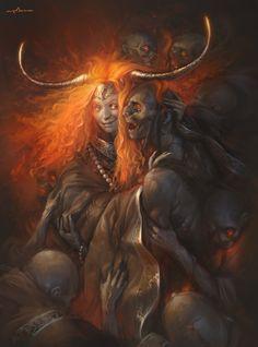 Lady Death, Sabbas Apterus on ArtStation at https://www.artstation.com/artwork/lady-death-6