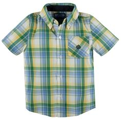 """Andy & Evan """"Yellow"""" Nothing Else Madras Shirt"""