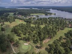 Aerial View of Golf Course - Eagle's Rest at Cuscowilla on Lake Oconee - Kim and Lin Logan Real Estate
