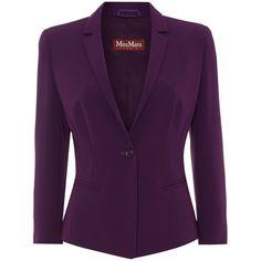 Max Mara Studio Vicino 3/4 sleeve blazer found on Polyvore