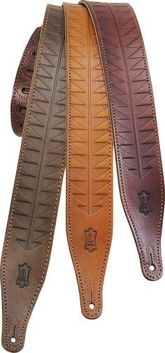 Levy/'s M17HCR-TAN Black /& Tan Leather Adjustable Guitar Strap w Croc Inlay