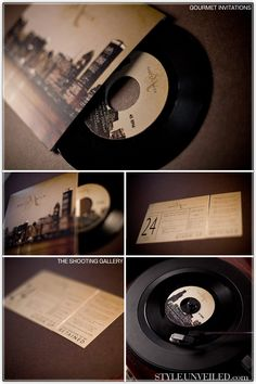 Vinyl wedding invites