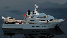 My concept! All toys with me and raised helideck. A true exploration yacht.