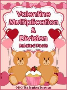 This Valentine themed multiplication and division worksheet packet is filled with fact families, fact tables, mixed practice and word problems! Multiplication facts and quotients to 9. $