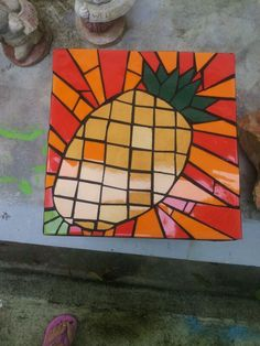 small table, present for a girl who loves pineapples
