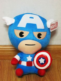 "Baby Captain America Plush Doll 11"" High Marvel Heroes The Avengers 