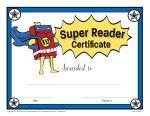 Printable Reading Award Certificates | K12reader.com